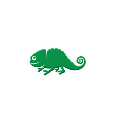 chameleon symbol happy for logo design vector image