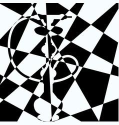 chess silhouette hiden hookah vector image