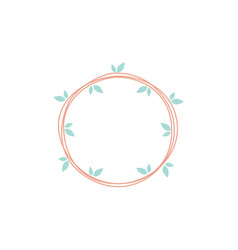 circle leaf icon design template isolated vector image