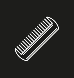 Comb icon isolated on black background vector
