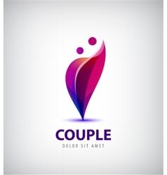 Couple logo Love support man and woman vector
