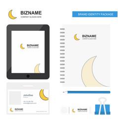 Cresent business logo tab app diary pvc employee vector