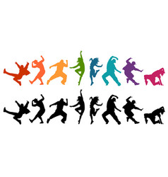 detailed silhouettes expres vector image