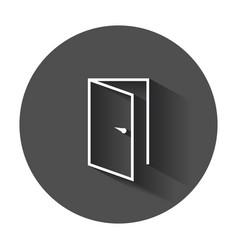 door icon in line style exit icon open door with vector image