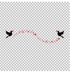 elegant love wedding valentine molding with heart vector image