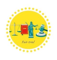 Fair Trial Concept Icon Flat Design vector image