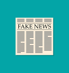 fake news newspaper flat style vector image