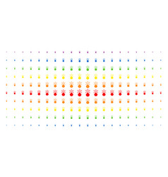 Fireworks detonator spectral halftone effect vector