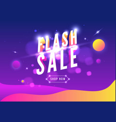 flash sale online shopping sale poster or flyer vector image