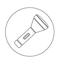 flashlight icon design vector image