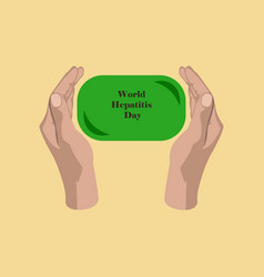 Flat icon on theme world hepatitis day soap in vector