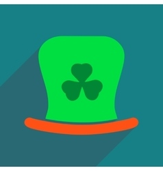 Flat web icon with long shadow Irish hat vector