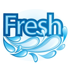 Fresh and Water Label vector image