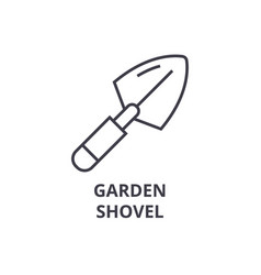 garden shovel line icon outline sign linear vector image