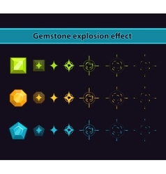 Gemstone explosion effect vector image