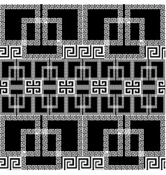 Geometric greek seamless border pattern vector