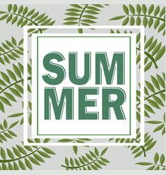 green summer tropical background with exotic palm vector image