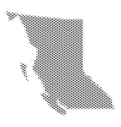 Halftone gray british columbia province map vector
