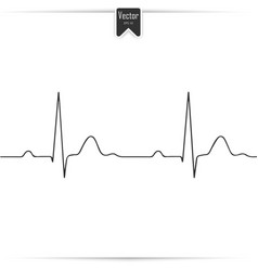 heartbeat sign in flat design vector image