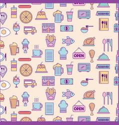 Icon set delicious fast food vector
