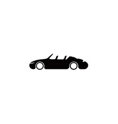isolated cabriolet icon element of popular vector image