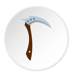 Japanese kama weapon icon circle vector