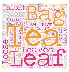 Loose Leaf Tea In The United States A Short vector