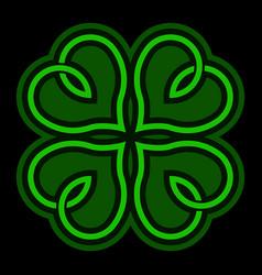 Lucky irish clover for st patricks day vector