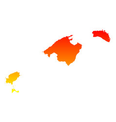 Map balearic islands vector