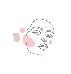 minimalist style portrait line continuous vector image