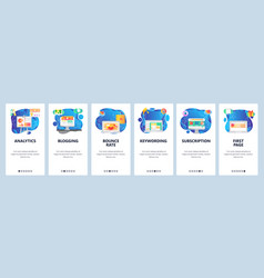 mobile app onboarding screens business and vector image