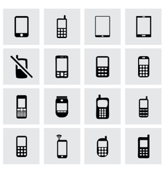 Mobile phone icon set vector