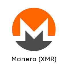 Monero xmr crypto coin ico vector