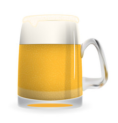 Naturalistic large glass of freshly coldly vector