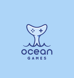Ocean games abstract sign symbol or logo vector