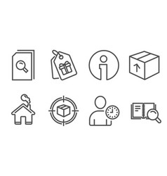 Package search files and parcel tracking icons vector