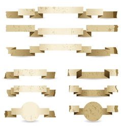 paper ribbons vector image vector image