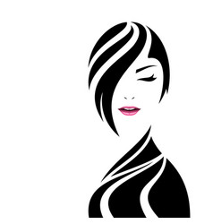 pretty woman face beauty concept design vector image