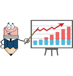 Professor pencil teaching economics vector image vector image