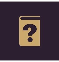 Questionnaire faq icon design Quizz vector image