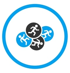 Running Men Circled Icon vector