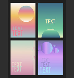 set of banners space graphic arts gradient vector image