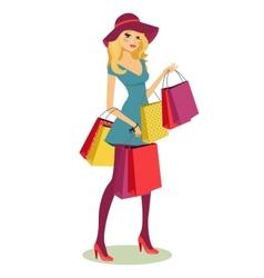 Shopping girl vector