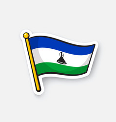 Sticker national flag lesotho vector