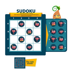 Sudoku game heart vector