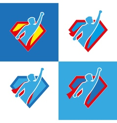 Superhero icon set vector image