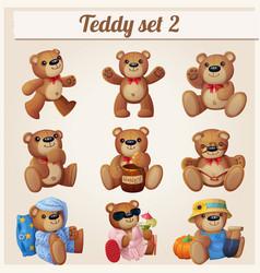 Teddy bears set part 2 vector