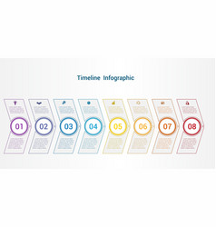 timeline or area chart template infographics 8 vector image