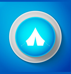 tourist tent icon isolated on blue background vector image