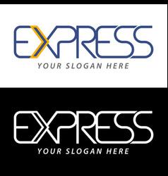 transport logistic or express delivery logo vector image